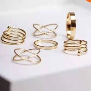 Jewelry - 5/$25  Minimalist gold or silver dainty ring set